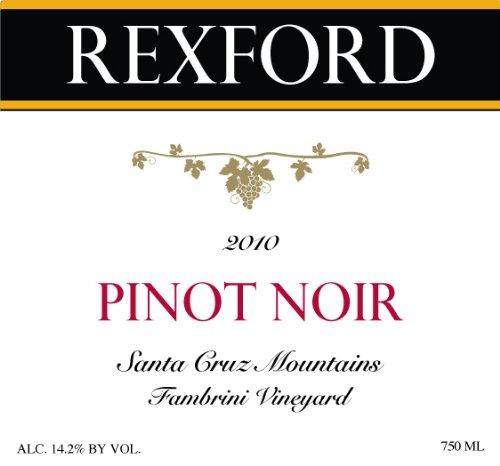 2010 Rexford Winery Pinot Noir Santa Cruz Mountains, Fambrini Vineyard 750 Ml