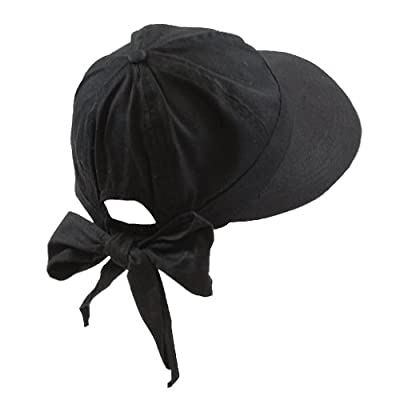 Fashion Helpers Women's Golf Visor Hat With Back Bow