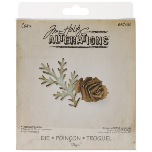 Sizzix Bigz Die - Tattered Pinecone by Tim Holtz (Sizzix Cone Die compare prices)