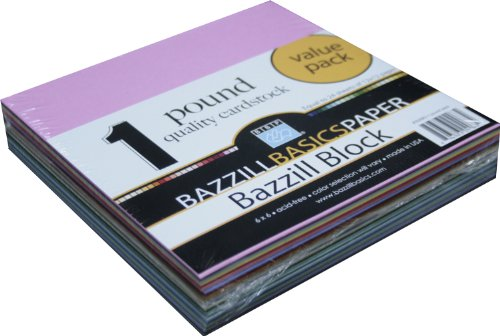 Bazzill Basics 304963 6 by 6 One Pound Paper Pack