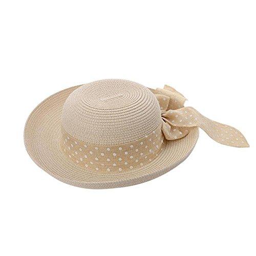 summer-fashion-womens-trilby-fedora-straw-panama-wide-brim-beach-cap-sun-hat-patterndotsbeige