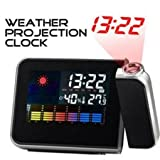 Digital Weather Projection Multi-function Alarm Clock by Buyincoins