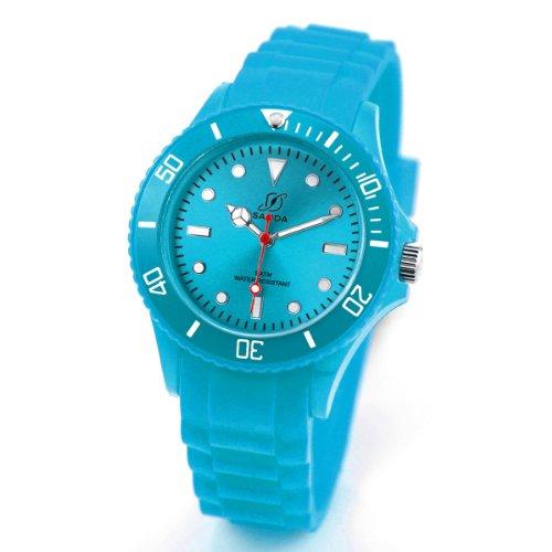Alienwork Chronos Quartz Watch Water Resistant 5ATM Wristwatch Silicone turquoise turquoise