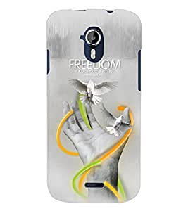 ColourCraft Creative Hand Image Design Back Case Cover for MICROMAX CANVAS MAGNUS A117