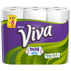 Viva paper towels are absorbent and tough when wet. Never run out when you sign up for subscribe and save.