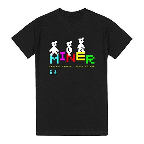 Manic Miner v2 | S Black T-Shirt