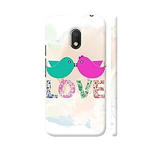 Colorpur Love Romantic Couple Birds Artwork On Motorola Moto G4 Play Cover (Designer Mobile Back Case) | Artist: Designer Chennai
