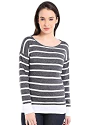 Manola Grey and White Striped Top