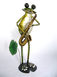 Cute Metallica Enamelled Metal Animal Frog Playing a ...