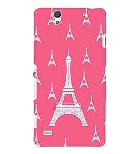 printtech Eiffel Tower Pattern Back Case Cover for Sony Xperia C4 Dual E5333 E5343 E5363::Sony Xperia C4 E5303 E5306 E5353