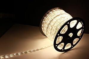 Amazon.com: 150Ft Rope Lights; Soft White LED Rope Light Kit; 1.0
