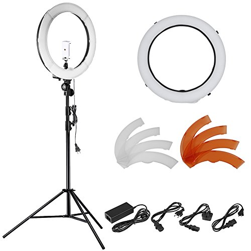 Neewer-18-inches-55W-LED-5500K-Dimmable-Ring-Light-Kit-Includes-1SMD-Ring-Light145-102-inches-Light-Stand1Tripod-Mount1Diffuser1Phone-Holder-for-Video-Makeup-Portrait-and-Photography