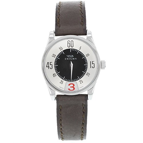 Enigma by Gianni Bulgari 115201S Silver Dial & Red Date Ladies W