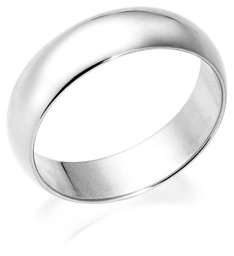 10k White Gold 6mm Traditional Men's Wedding Band