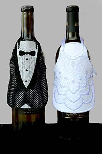 Wine Bottle Wedding Gift Idea : Wine Bottle Apron, Wine Bottle Cover, Wine bottle Decor, Wedding Gift ...