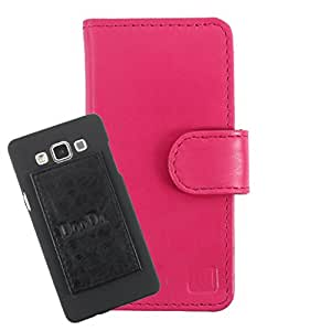DooDa Genuine Leather Wallet Flip Case Cover With Card & ID Slots For Lenovo A820