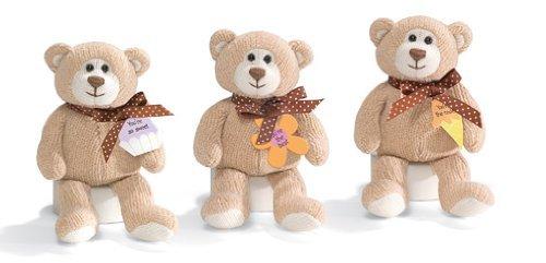 Gund Message Bears, 3 Piece Set, 7 Inch Plush