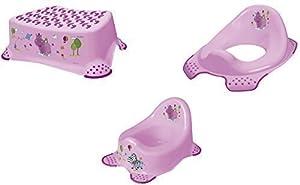 Hippo set 3x orinal color lila + inodoro + taburete entrenador de baño por OKT Kids