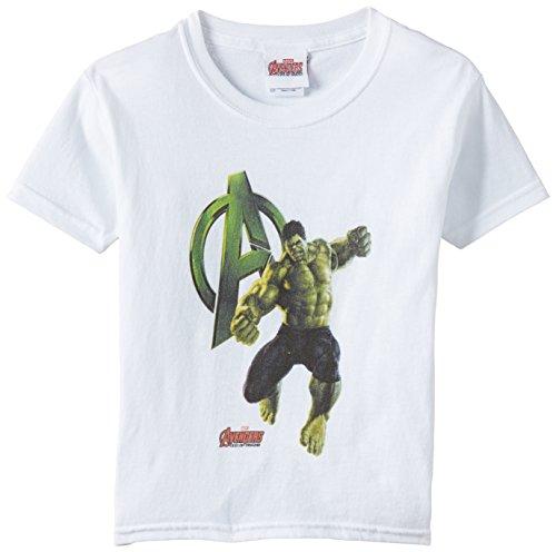 Marvel - Age of Ultron Hulk a Stand, T-shirt per bambini e ragazzi, bianco (white), 3 anni (Taglia produttore:X-Small)