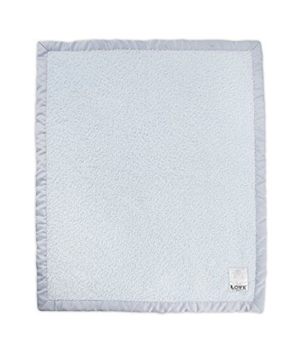 Little Giraffe Cherish Satin Blanket, Blue