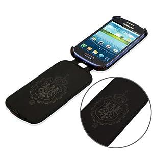 Étui / Housse de protection luxe UltraSlim pour Samsung i8190 Galaxy S III Mini Flip | EN CUIR VÉRITABLE D'EMPEIGNE* traiter en PREMIUM