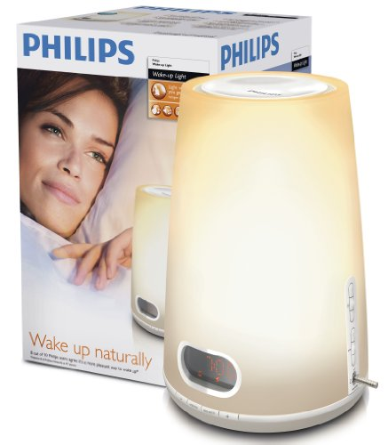 Philips HF3470 Wake Up Light Alarm Clock With LCD Display And Digital FM Radio