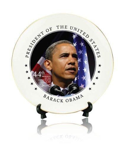 Barack Obama 8-inch Ceramic Presidential Decorative Plate w/ Gift Box Obama for America