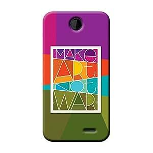 Garmor Make Art Not War Design Plastic Back Cover For Nokia Asha 501