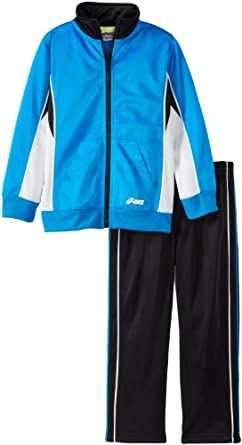 ASICS Little Boys' Ready Set Go Track Set, Electric, 4