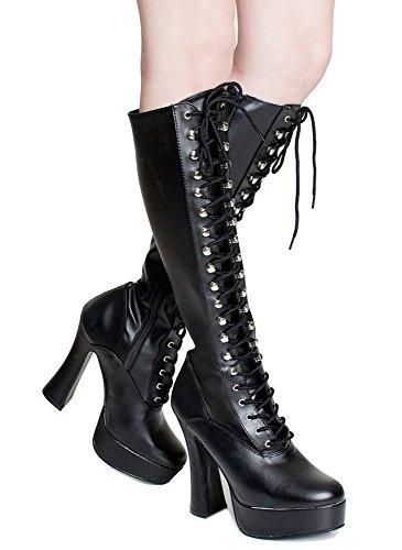 Retro Gogo Gothic Grunge Lace Up Combat Mor Retro Boots