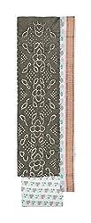 Bandhej Mart Women's Cotton Salwar Suit Material (Grey and White)