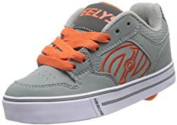 Heelys Motion Skate Shoe (Toddler/Little Kid/Big Kid), Grey/Orange, 5 M US Big Kid