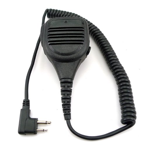 Zeadio Waterproof Rainproof Shoulder Remote Speaker Mic Microphone 3.5Mm Headphone Jack For 2 Pin Motorola Radio Xv1100 Xv2100 Xv2600 Cls1410 Cls1413 Etc.