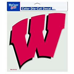 Buy NCAA Wisconsin Badgers 8-by-8 Inch Diecut Colored Decal by WinCraft