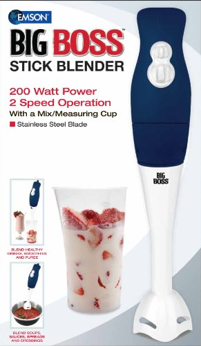 Big Boss 200 Watt Power 2-Speed Operation immersion Hand-Stick Blender/mixer with a Mix/Measuring Cup
