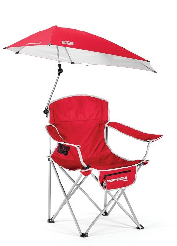 Sklz sportsbrella chaise pliante portable rouge rouge mobilier de camping c - Chaise pliante rouge ...