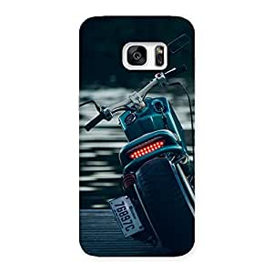 Gorgeous Bike Chopper Multicolor Back Case Cover for Galaxy S7 Edge