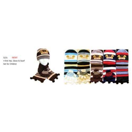 3 Pc Childs Beanie Scarf Glove Set Puppy [24 Pieces] *** Product Description: 3 Pc Childs Beanie Scarf Glove Set Puppy - 6 2 Tone Puppy Logo *** front-1051474
