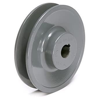 "TB Woods BK4712 FHP Bored-To-Size, 4.45"" Outside Body Diameter, 0.5"" Bore Diameter V-Belt Sheave"