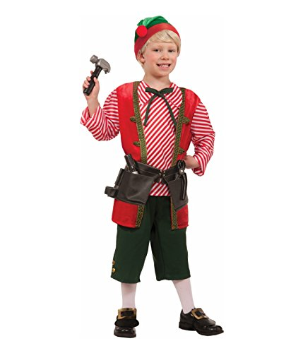 Toy Maker Elf Costume, Child Large, Large One Color
