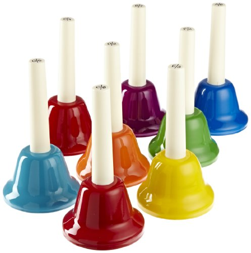 Rhythm Band 8 Note Metal Hand Bells - Set of 8