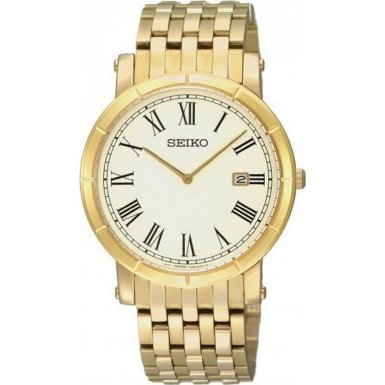 Seiko Men's Watch SKP366P1 with Gold PVD Bracelet