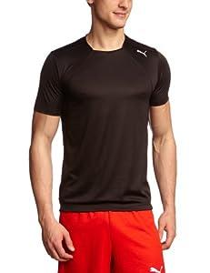 Puma T-Shirt Homme Noir FR : 44/46 (Taille Fabricant : S)