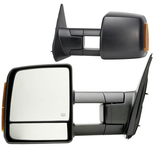 Fit System 70103-04T Toyota Tundra Driver/Passenger Side Replacement Mirror Set with Turn Signal and Dual Glass (Tow Mirrors For Toyota Tundra compare prices)