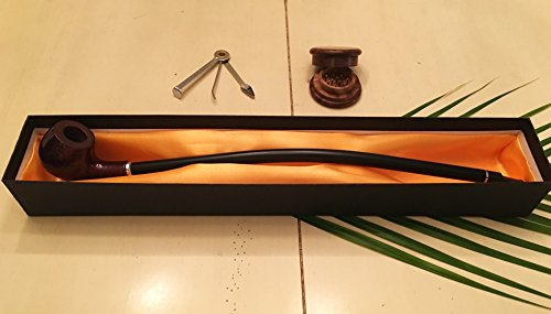 16-Gandalf-Churchwarden-Tobacco-Smoking-Pipe-Bonus-Wood-Grinder-Cleaning-Tool