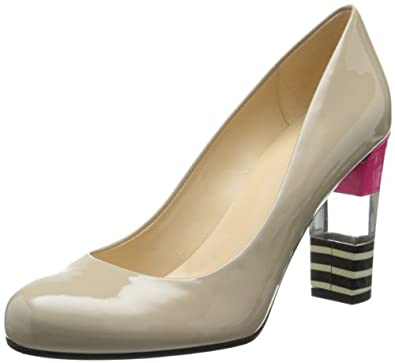kate spade new york Women's Leslie Dress Pump,Linen/Stripe,8 M US