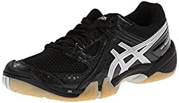 ASICS Women\'s Gel Dominion Volley Ball Shoe,Black/Silver/White,9 M US