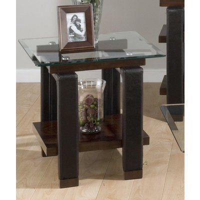 Image of Jofran Fiona End Table w/ Glass Top (819-3BG-PAR)