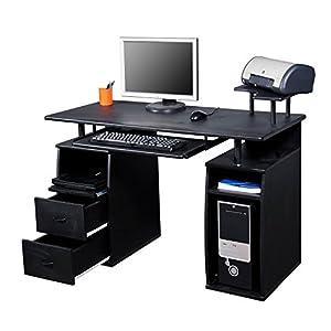 Computer table office desk with printer shelf and table for Mesas de escritorio amazon