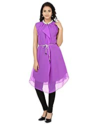 Shagun Creation Purple Solid Kurti-40-For Women, Girls
